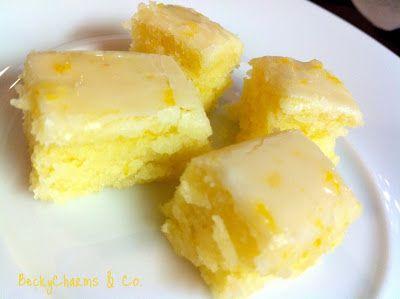 Lemony Lemon Brownies - Click for Recipe