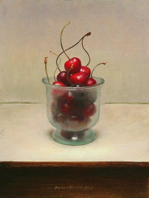Jos Van Riswick - cherries still life