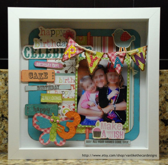 19 best Box frame images on Pinterest | Shadow box frames, Baby ...
