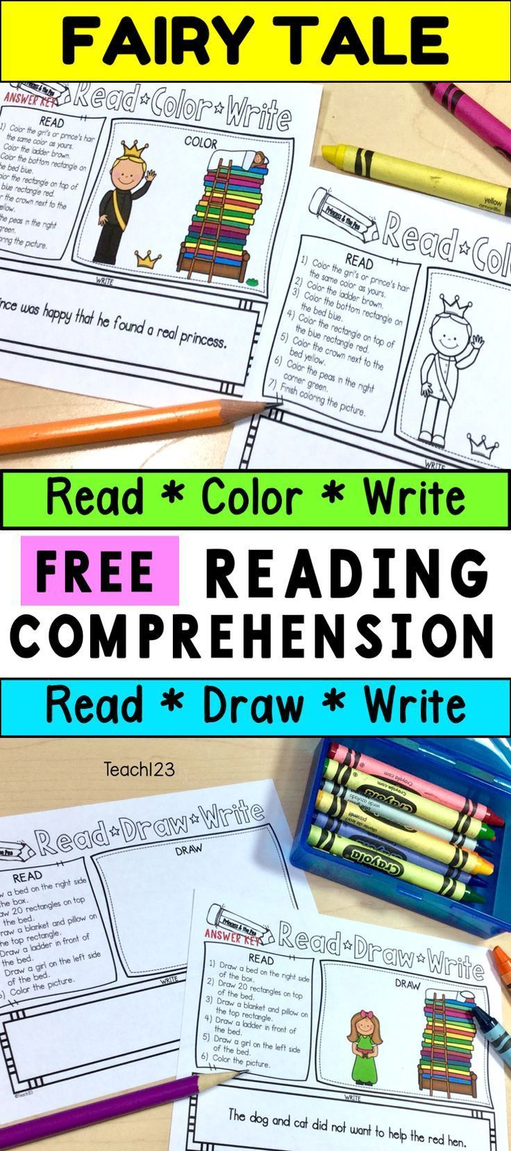Free Fairy Tale Themed Reading Comprehension Printables Students Wil Reading Comprehension Reading Comprehension Kindergarten 2nd Grade Reading Comprehension [ 1656 x 736 Pixel ]