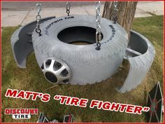 """How to Make Matt's """"Tire Fighter"""" Tire Swing 