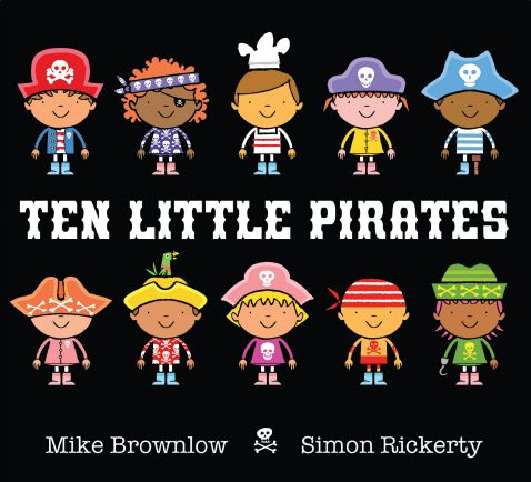 """Ten little pirates sailing out to sea, Looking for adventure, happy as can be. Are they hunting treasure? Are they going far? Ten little pirates all say, """"Arrrrrr!"""" Ten little pirates set out to sea in search of adventure. But what will the ten little pirates do when they meet a hurricane . . . and a giant squid . . . and a HUNGRY SHARK! This fun-filled rhyming story, which incorporates counting backwards from ten to one, is great to share with young children who are learning about numbers."""