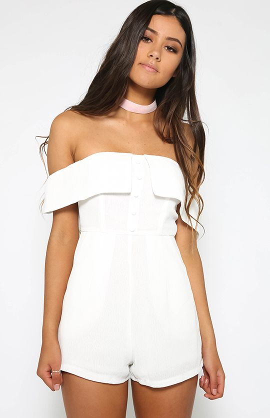 Blessed Playsuit - White from peppermayo.com