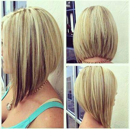 Medium Angled Bob Haircuts