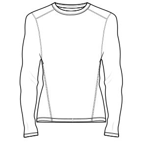 Body adjusted T-shirt pattern