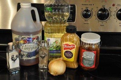 Sweet Onion, honey dijon vinaigrette salad dressing