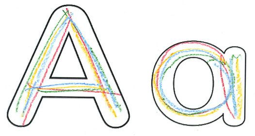 Alphabet Bubble Letters-Why didnt i ever think of this!?!? It'd be so much easier for the kids to learn how to write there letters this way by having a guide!