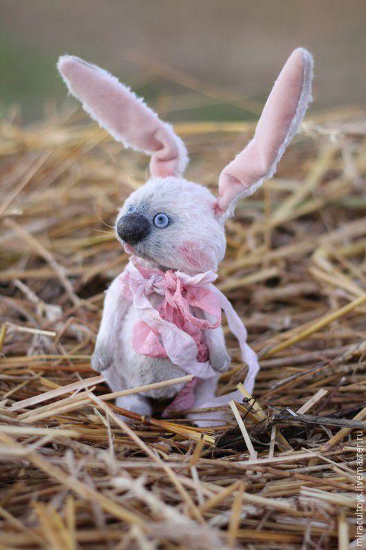 Зайка Макарони -  авторская игрушка, игрушки ручной работы, зайчик