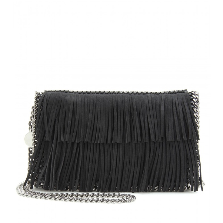 FALABELLA FRINGED SHOULDER BAG seen @ www.mytheresa.com