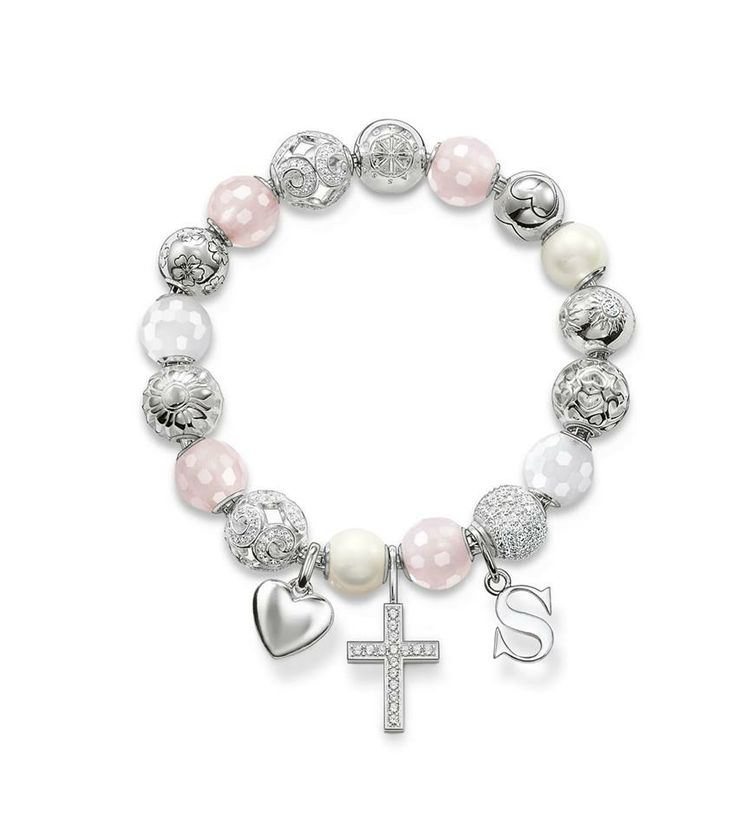 Thomas Sabo Karma beads: love/sun/pearl/rose quartz/hearts