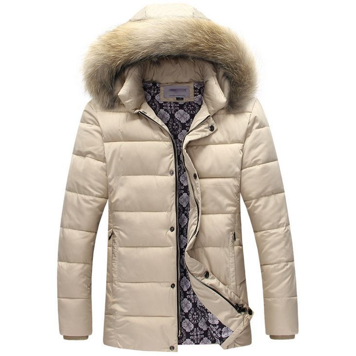 2016 New Thick Warm Winter  Down Jacket for Men Fur Collar Parkas Hooded Coat high quality Western style