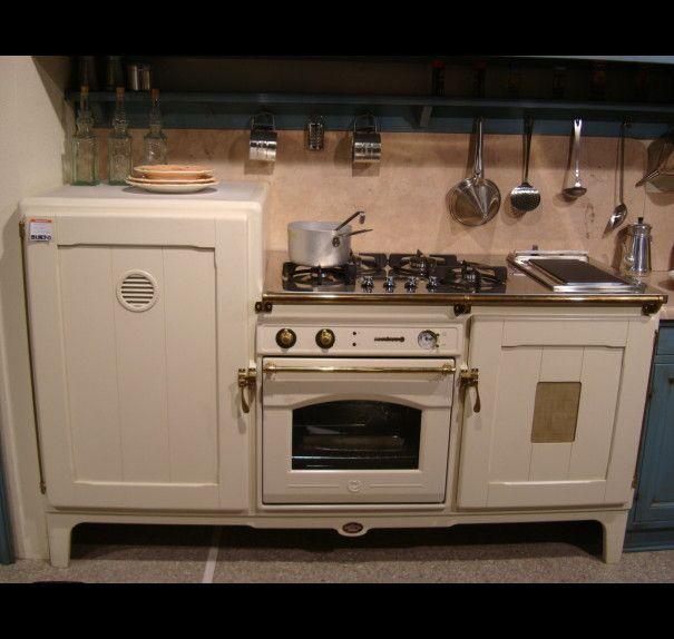 Έπιπλο Baltimora με ψυγείο, καταψύκτη, φούρνο και εστίες