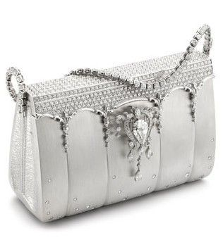 The most expensive handbag encrusted with 2,182 Diamonds Platinum. Valued at 1,900,000