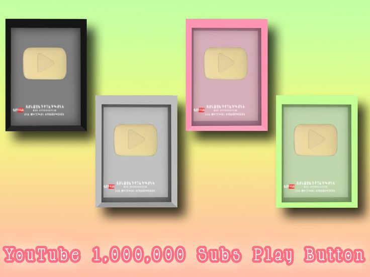 Play Button received when they reach 1,000,000 subscribers on YouTube.Dine Out game pack is required for this to work properly! Found in TSR Category 'Sims 4 Miscellaneous Decor'