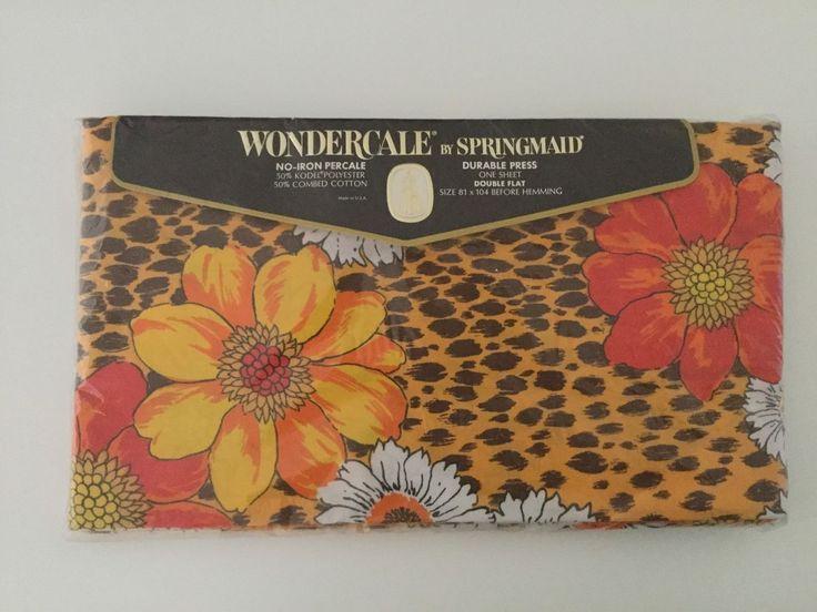vintage kashmir pattern sheets by springmaid