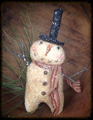 Adorable Little Primitive Snowman                              …
