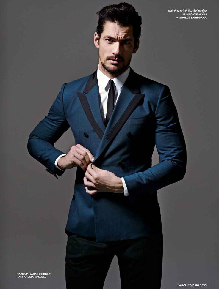 David Gandy for GQ Thailand March 2015. Photographed by Ram Shergill. Styled by Pop Kampol. Hair by Angelo Vallillo. Makeup by Sarah Sorrenti.