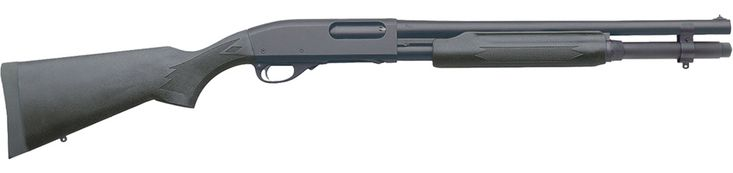 """My fav home gun. Nothing says """"Howdy stranger"""" quite like a pump action 12ga. Remington 870 Express Synthetic 7-Round"""
