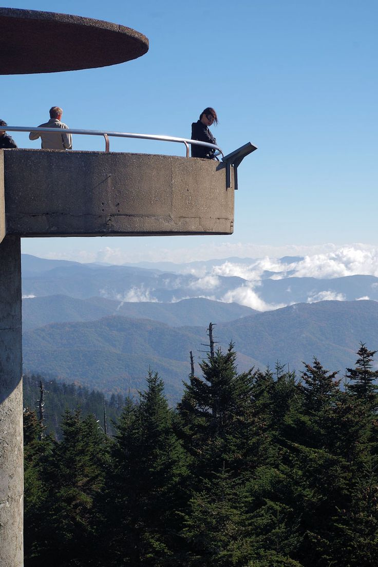 The tower at Clingmans Dome in the Great Smoky Mountains National Park with amazing 360-degree views.