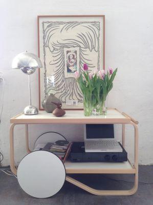 Alvar Aalto's furnitures: Tea trolley 901. Artek.