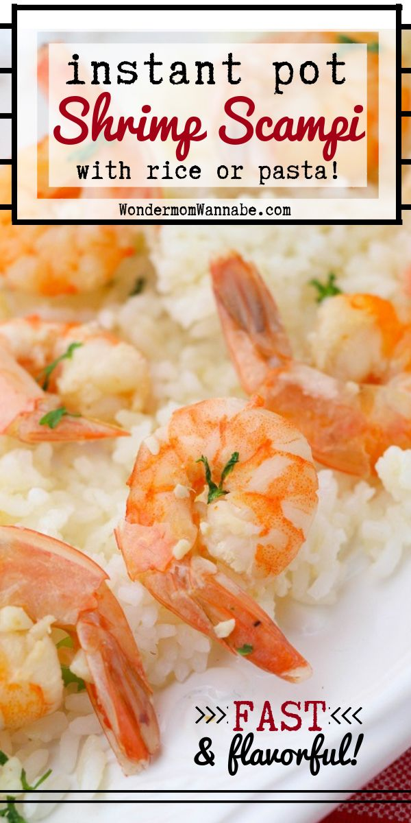 This Instant Pot Shrimp Scampi is so easy to make it's hard to believe it has so…