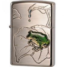 Zippo Lighter FROG Nickel Antique Finish 63430198 Japan Model