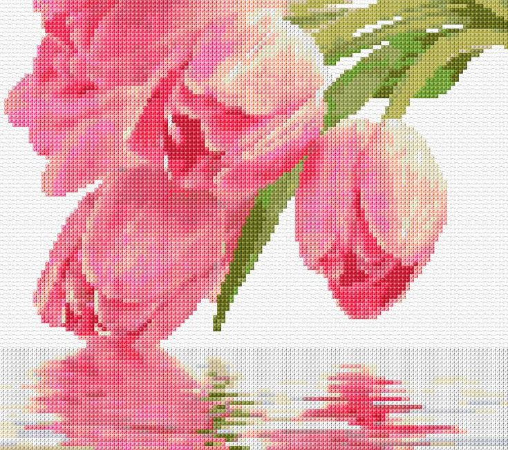 Cross Stitch | Reflection xstitch Chart | Design