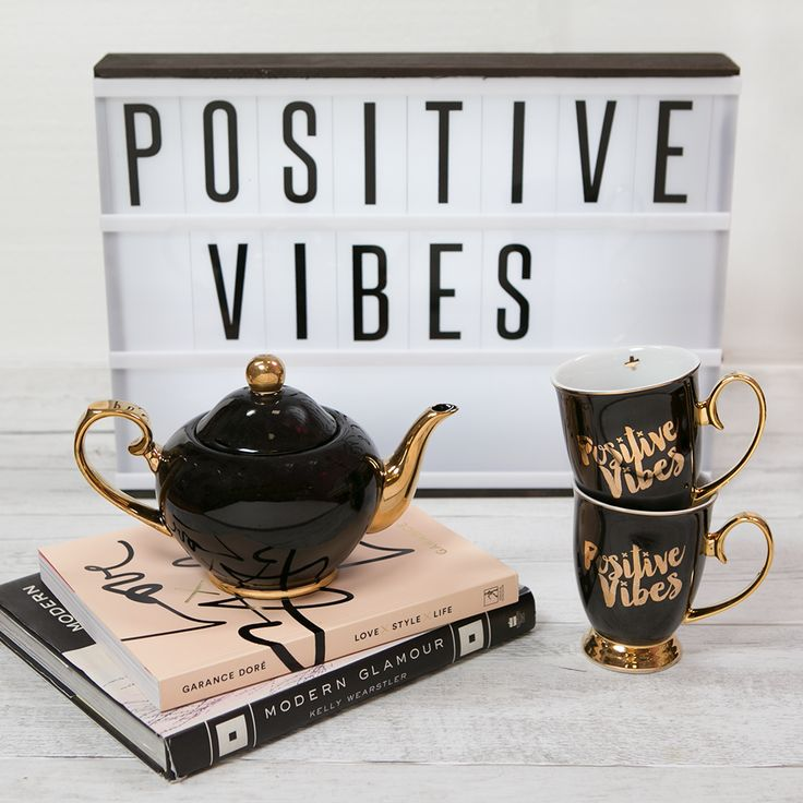 Cristina Re - 'Positive Vibes' Mugs - 24ct Gold Plated