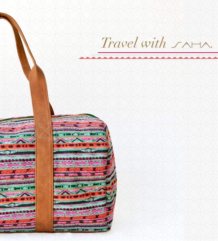 Travel with Saha and be unique everywhere.  Find this travel bag from our 2016 collection at www.sahaswimwear.com  #Style #Inspiration #Resort#TropicalChic#saha #sahaswimwear #travel #bolso #bag