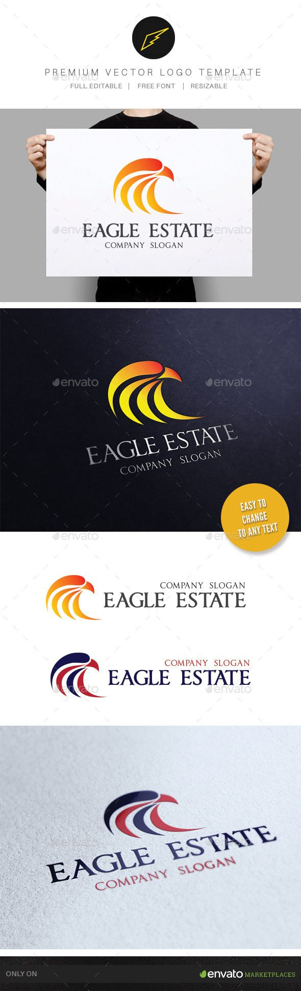 Eagle Real Estate — Photoshop PSD #institution #real estate • Available here → https://graphicriver.net/item/eagle-real-estate-/9830554?ref=pxcr