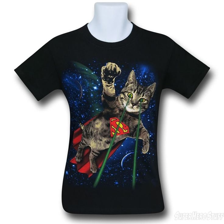 Images of Superman Super Kitty in Space Men's T-Shirt