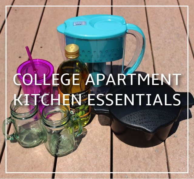 19 Must-Haves for Your College Apartment | College Apartment Kitchen Essentials: Brita Water Pitcher, Tumbler Cups, Micro cooker + More!