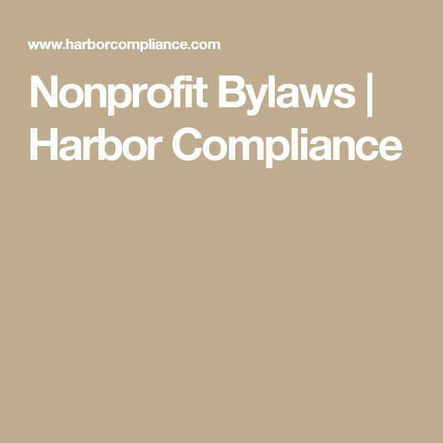 Nonprofit Bylaws | Harbor Compliance