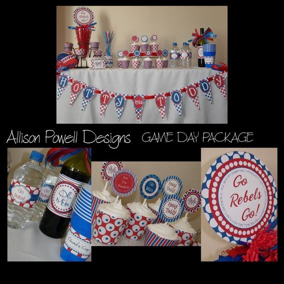 Ole Miss tablescape