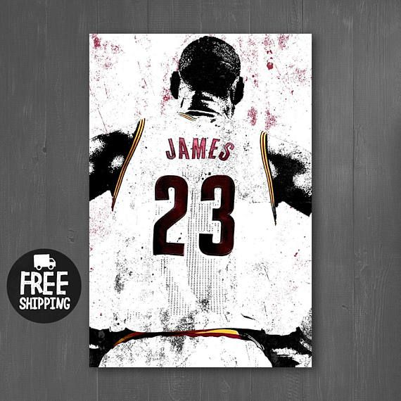 LeBron James Cleveland Cavaliers Sports Art Print