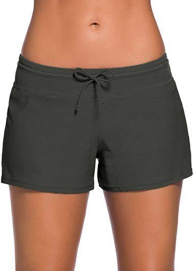 Deep Grey Charmleaks Woman Board Swimwear Shorts on sale only US$23.74 now, buy cheap Deep Grey Charmleaks Woman Board Swimwear Shorts at lulugal.com