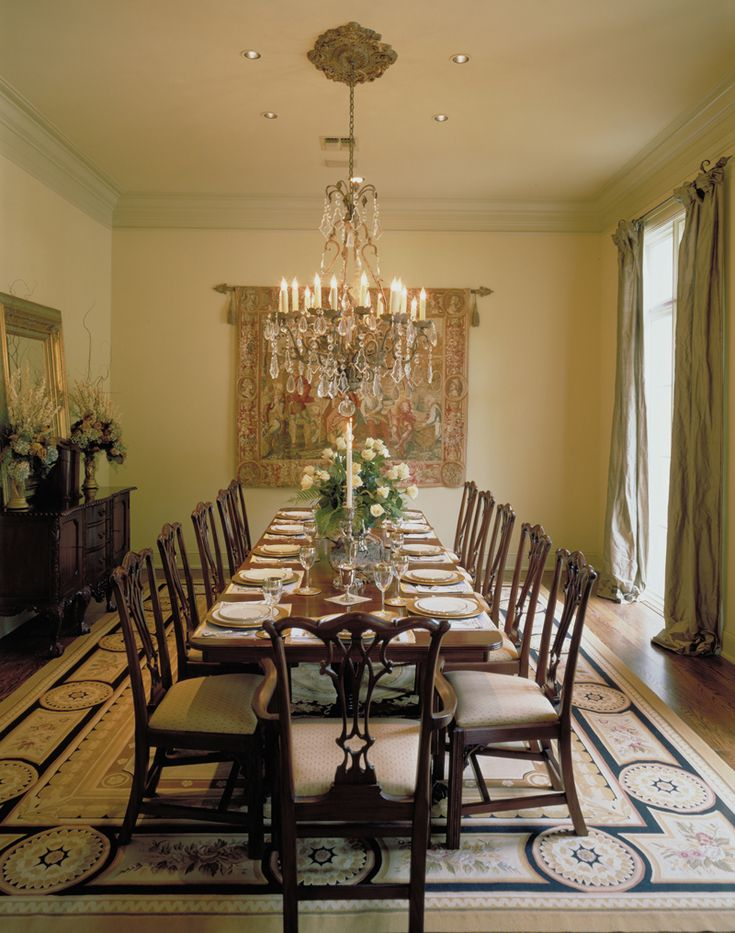 Elegant And Spacious Dining Room Ready For The Holidays Plan 020S 0004