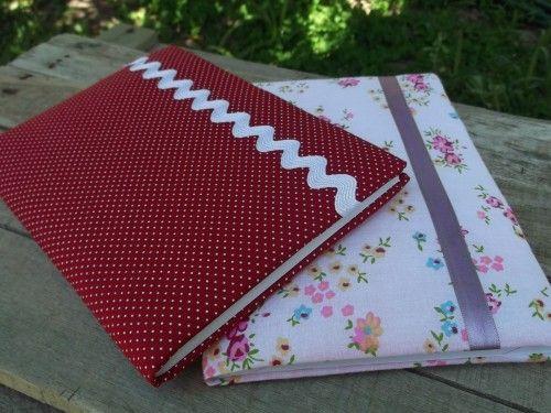 Cadernos Decorados em Tecido
