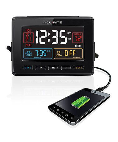 This AcuRite Atomic Alarm Clock & USB Charger is perfect! #zulilyfinds