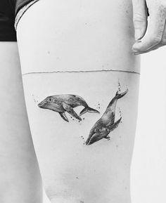 Este tatuaje para los amantes del océano. | 23 Lindos tatuajes que los amantes de los animales adorarán