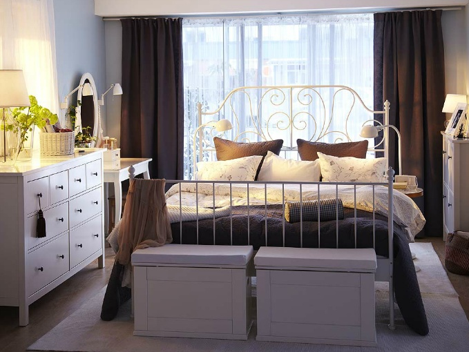 IKEA Leirvik bed. Photo from IKEA catalog.  I have this bed and Im looking for room inspiration!