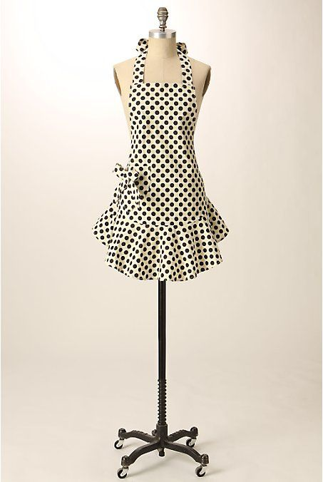 Polka dot apron from Anthropologie.