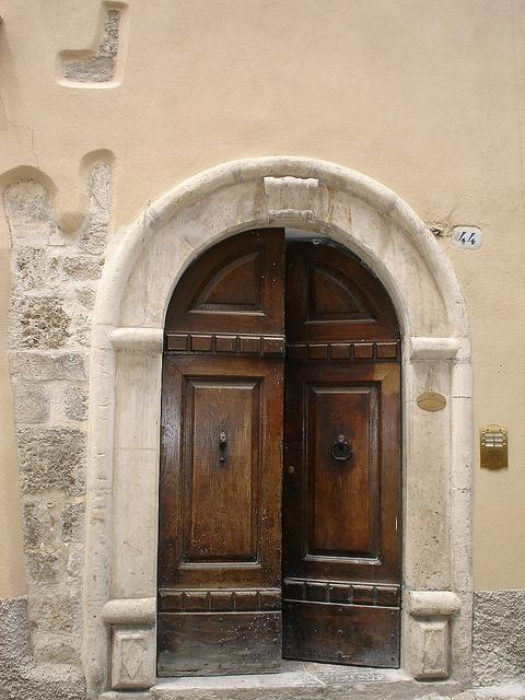 Old Street door L'Aquila Italy by Panoraman, via Flickr