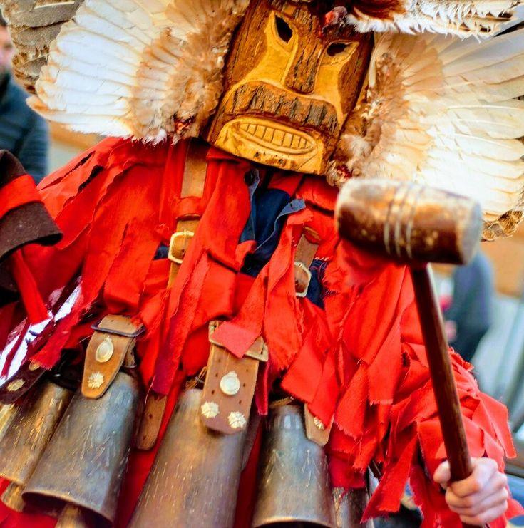 International festival of Masquerade Games SURVA 2017. Pernik Bulgaria.Lana  #surva #festival #kukeri #surva2017 #perniik #mask #carnival #bulgaria #кукери #сурва2017 #маски #интересные #путешествия #фото #традиции #народные