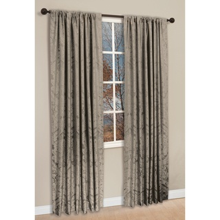 @Overstock - The Napoli window panel set is a yarn-dye, large scale damask pattern in woven faux silk with a gentle slub effect. The subtle colors define the pattern of this 2-piece window panel set, creating a traditional look.       http://www.overstock.com/Home-Garden/Taupe-Polyester-84-inch-Damask-Napoli-Curtain-Panel-Pair/6534640/product.html?CID=214117 $53.10