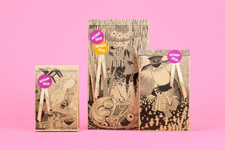 Packaging for Moomin Shop by graphic design studio Bond, Finland. #moomins
