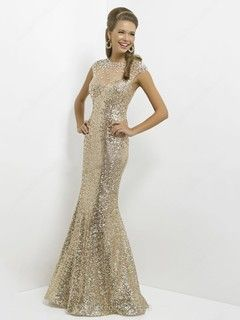 Sequined Scoop Floor-length Trumpet/Mermaid Rhinestone Prom Dresses -NZD$196.59