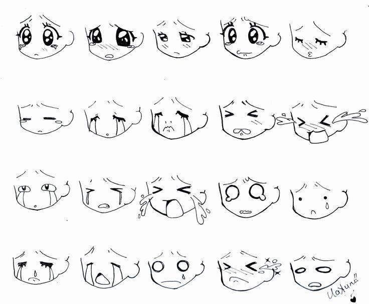 Manga Face Geek Di 2020 Menggambar Wajah Cara Menggambar Gambar Figur