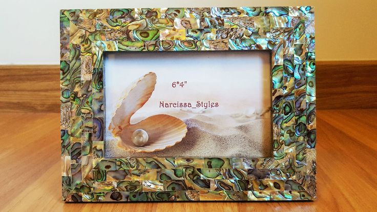 Handmade Genuine Abalone Shell Picture Frame 4X6  Brand New