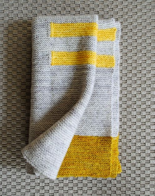 Grey and yellow baby blanket